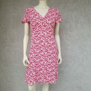 Brooks Brothers Red White Floral Fit & Flare Dress